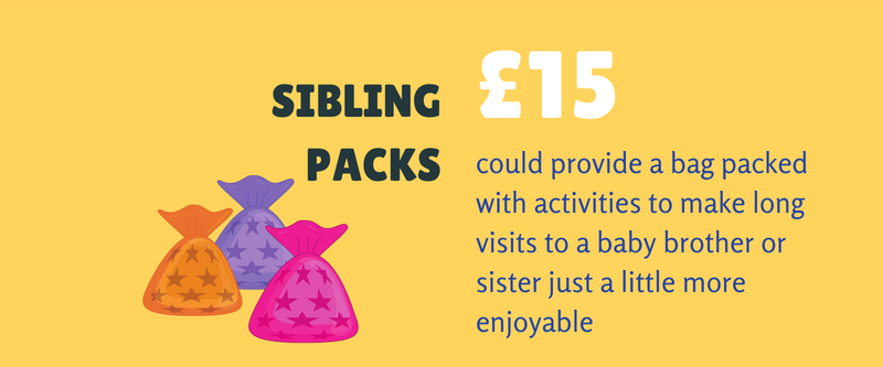 Sibling packs graphic