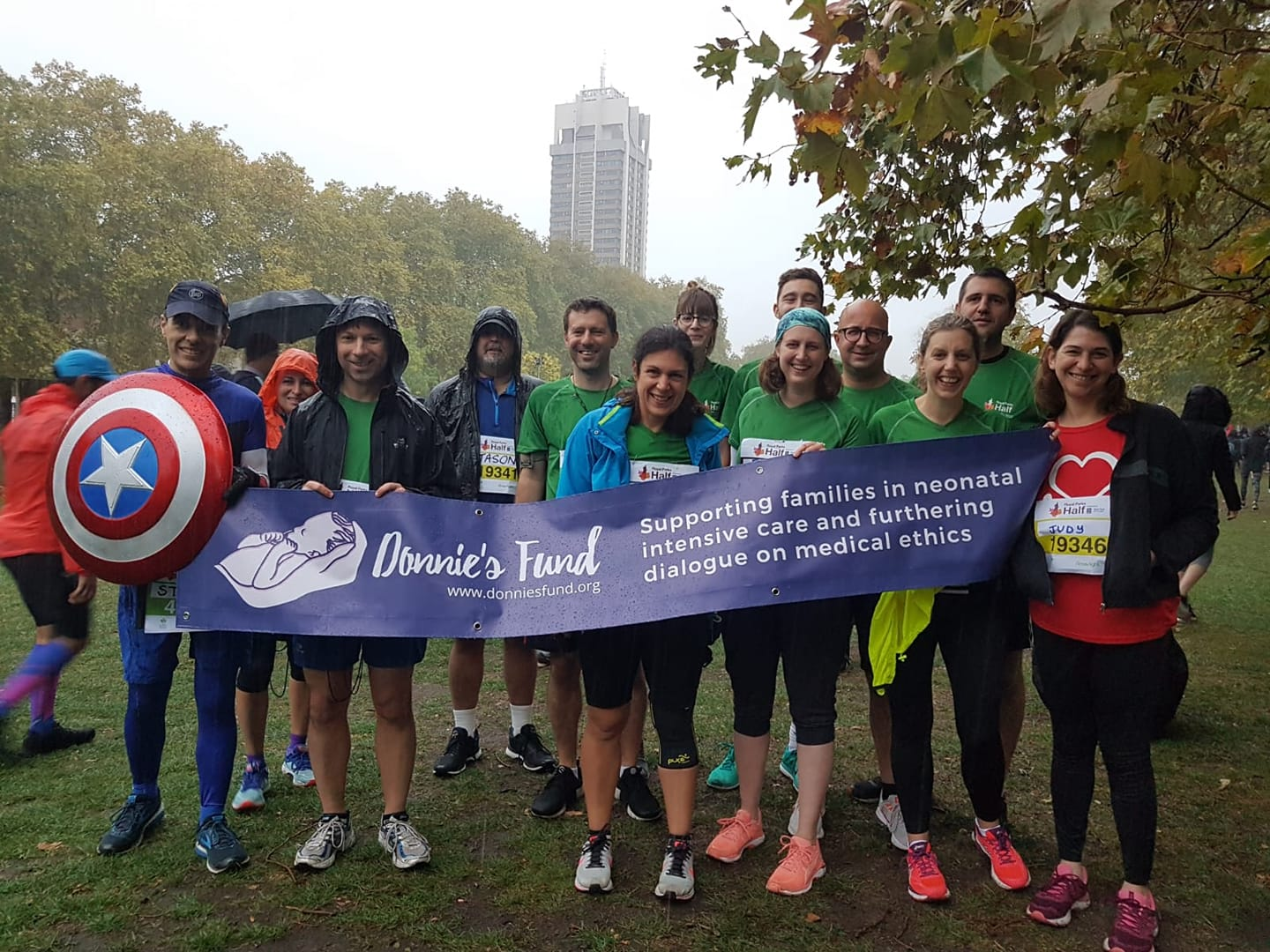 Team Donnie at the 2018 Royal Parks Half